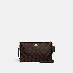 LYLA CROSSBODY IN SIGNATURE CANVAS - BROWN/BLACK/IMITATION GOLD - COACH F58328