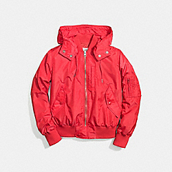 COACH MA-1 JACKET - BRIGHT RED - F58346