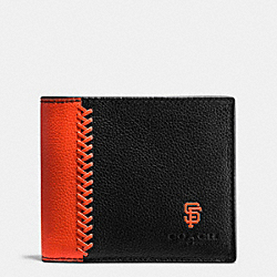 MLB 3-IN-1 WALLET IN SMOOTH CALF LEATHER - f58376 - SF GIANTS