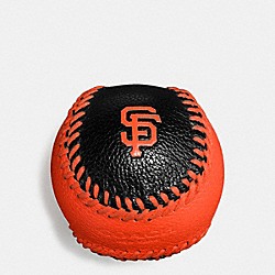 MLB BASEBALL PAPERWEIGHT IN SMOOTH CALF LEATHER - f58377 - SF GIANTS
