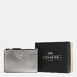BOXED MINI SKINNY ID CASE - SV/GUNMETAL - COACH F58424