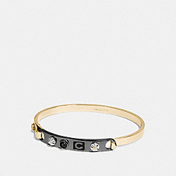 COACH ICONS TENSION BANGLE - BLACK/GOLD - COACH F58444
