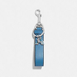 CHARM LOOP BAG CHARM - f58502 - BRIGHT BLUE/SILVER