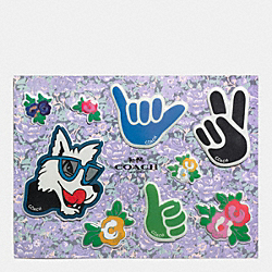 FLORAL STICKERS - f58566 - MULTICOLOR