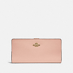 SKINNY WALLET - GD/NUDE PINK - COACH F58586