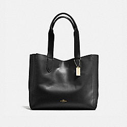 COACH DERBY TOTE IN PEBBLE LEATHER - IMITATION GOLD/BLACK OXBLOOD 1 - F58660