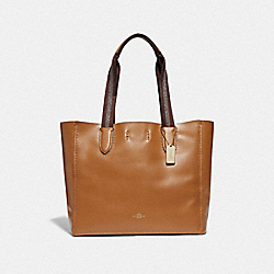 DERBY TOTE - IM/LIGHT SADDLE - COACH F58660