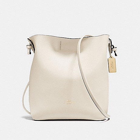 COACH f58661 DERBY CROSSBODY IN PEBBLE LEATHER IMITATION GOLD/CHALK NEUTRAL