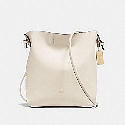 DERBY CROSSBODY IN PEBBLE LEATHER - f58661 - IMITATION GOLD/CHALK NEUTRAL