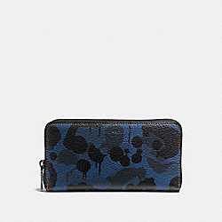 ACCORDION WALLET WITH DENIM WILD BEAST PRINT - DENIM WILD BEAST/YELLOW - COACH F58693