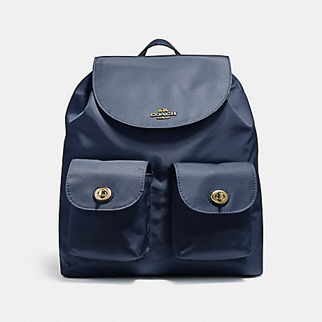 COACH f58814 NYLON BACKPACK MIDNIGHT/LIGHT GOLD