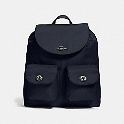 COACH NYLON BACKPACK - ANTIQUE NICKEL/MIDNIGHT - F58814