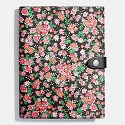 POSEY CLUSTER FLORAL NOTEBOOK - STRAWBERRY MULTI - COACH F58815