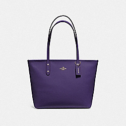 CITY ZIP TOTE - DARK PURPLE/IMITATION GOLD - COACH F58846