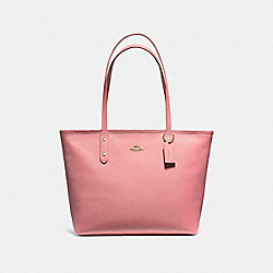 CITY ZIP TOTE - VINTAGE PINK/IMITATION GOLD - COACH F58846