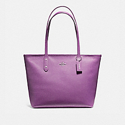 COACH F58846 - CITY ZIP TOTE SILVER/BERRY