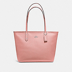 CITY ZIP TOTE - PETAL/SILVER - COACH F58846