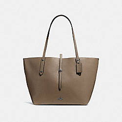 MARKET TOTE - FATIGUE/STONE/DARK GUNMETAL - COACH F58849