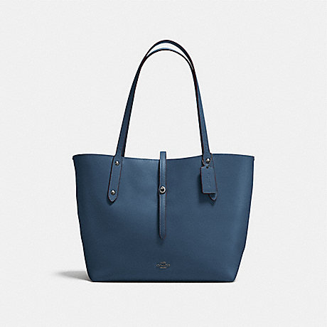 COACH MARKET TOTE - DARK DENIM/MARIGOLD/DARK GUNMETAL - F58849