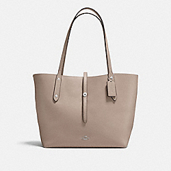MARKET TOTE - STONE/DUSTY ROSE/SILVER - COACH F58849