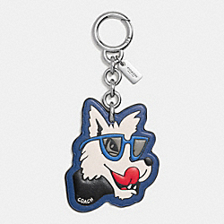 WOLF BAG CHARM - F58886 - SILVER/MULTICOLOR