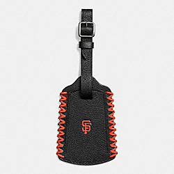 MLB LUGGAGE TAG IN SMOOTH CALF LEATHER - f58943 - SF GIANTS