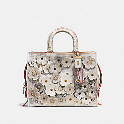 ROGUE WITH SNAKESKIN TEA ROSE - OL/CHALK - COACH F58964