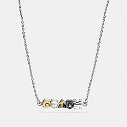 COACH DECO NECKLACE - MULTI/GOLD - COACH F58981