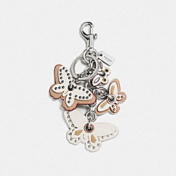 COACH BUTTERFLY MIX BAG CHARM - SILVER/CHALK - F58997