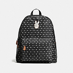 COACH CHARLES BACKPACK IN PRAIRIE BANDANA PRINT WITH MICKEY - Black/Chalk Prairie Bandana - F59035