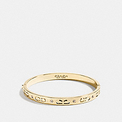KISSING C HINGED BANGLE - f59083 - GOLD