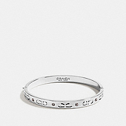 COACH KISSING C HINGED BANGLE - SILVER - F59083