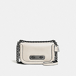 COACH SWAGGER SHOULDER BAG 20 WITH TEA ROSE - DK/CHALK - COACH F59087