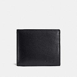 COMPACT ID IN CROSSGRAIN LEATHER - f59112 - MIDNIGHT NAVY
