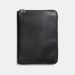 TECH PORTFOLIO IN CROSSGRAIN LEATHER - f59119 - BLACK
