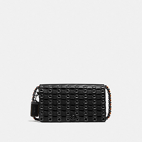 COACH f59126 DINKY WITH COACH LINK BLACK/BLACK COPPER