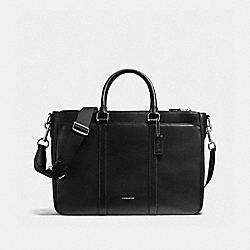 COACH PERRY METROPOLITAN TOTE IN CROSSGRAIN LEATHER - BLACK - F59141