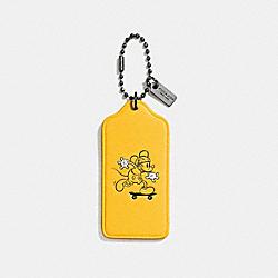 COACH MICKEY HANGTAG - BK/Banana - F59153