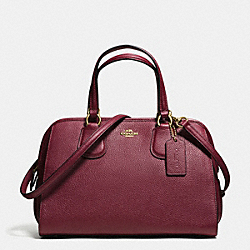 COACH NOLITA SATCHEL IN PEBBLE LEATHER - LIGHT GOLD/BURGUNDY - F59180