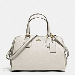 NOLITA SATCHEL IN PEBBLE LEATHER - f59180 - LIGHT GOLD/CHALK