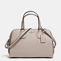 NOLITA SATCHEL IN PEBBLE LEATHER - f59180 - SILVER/GREY BIRCH
