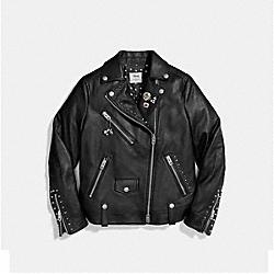 MICKEY MOTO JACKET - BLACK - COACH F59231