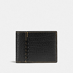 RIP AND REPAIR SLIM BILLFOLD WALLET - BLACK - COACH F59272