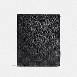 SLIM COIN WALLET IN SIGNATURE CANVAS - CHARCOAL - COACH F59283