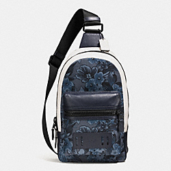 TERRAIN PACK IN FLORAL HAWAIIAN PRINT CANVAS - f59302 - BLUE HAWAIIAN FLORAL