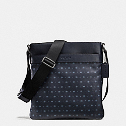 CHARLES CROSSBODY IN STAR DOT PRINT LEATHER - f59307 - MIDNIGHT NAVY/BLUE STAR DOT