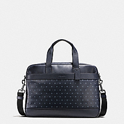 COACH HAMILTON BAG IN STAR DOT PRINT LEATHER - MIDNIGHT NAVY/BLUE STAR DOT - F59319