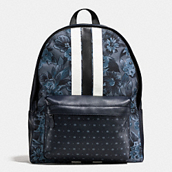 CHARLES BACKPACK IN FLORAL HAWAIIAN PRINT CANVAS - f59322 - BLUE HAWAIIAN FLORAL