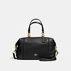 COACH LENOX SATCHEL IN PEBBLE LEATHER - IMITATION GOLD/BLACK - F59325