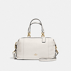 LENOX SATCHEL IN PEBBLE LEATHER - f59325 - IMITATION GOLD/CHALK